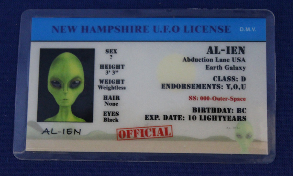New Hampshire U.F.O. License