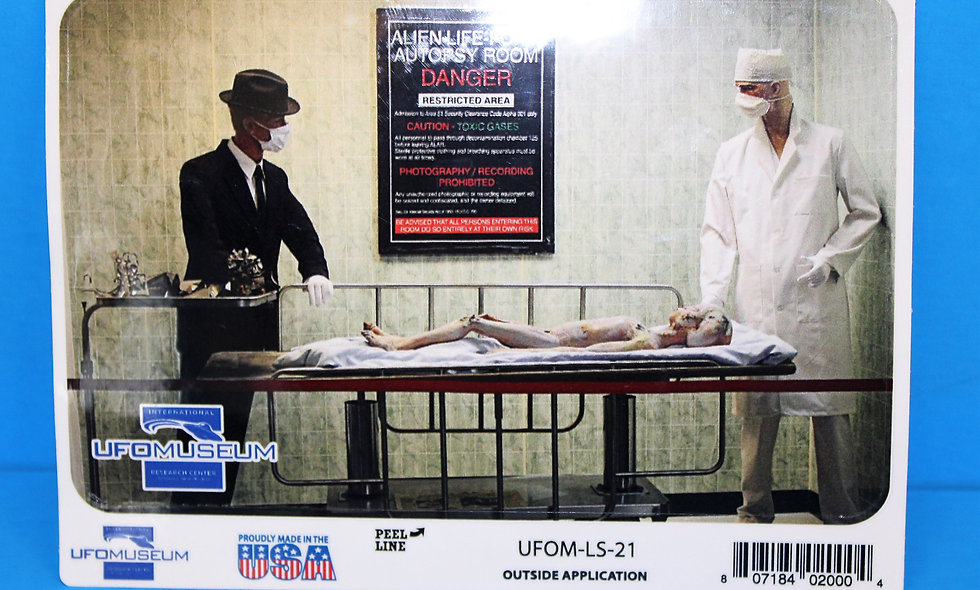 Alien Autopsy LARGE Sticker