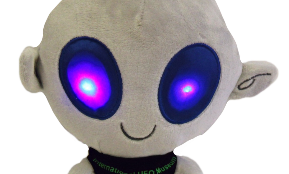 Alien Plush with Light Up Eyes