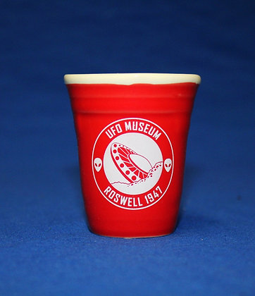 Red Solo Shot Glass