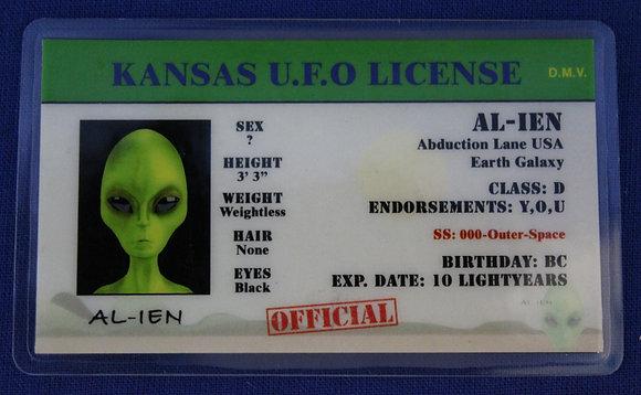 Kansas U.F.O. License