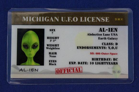 Michigan U.F.O. License