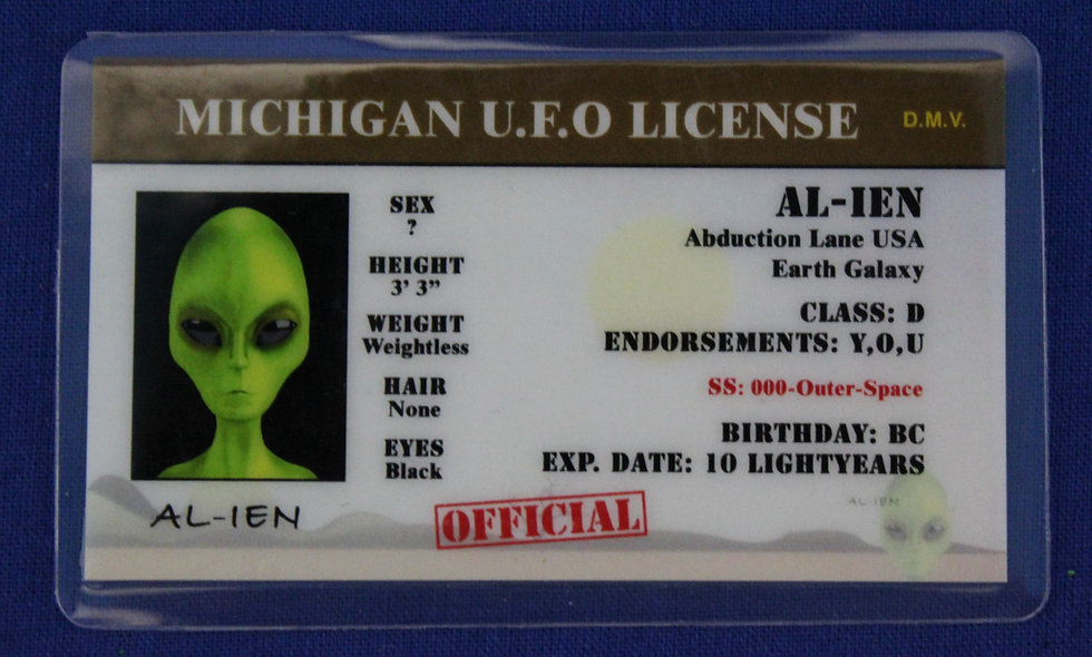 Michigan U.F.O. License