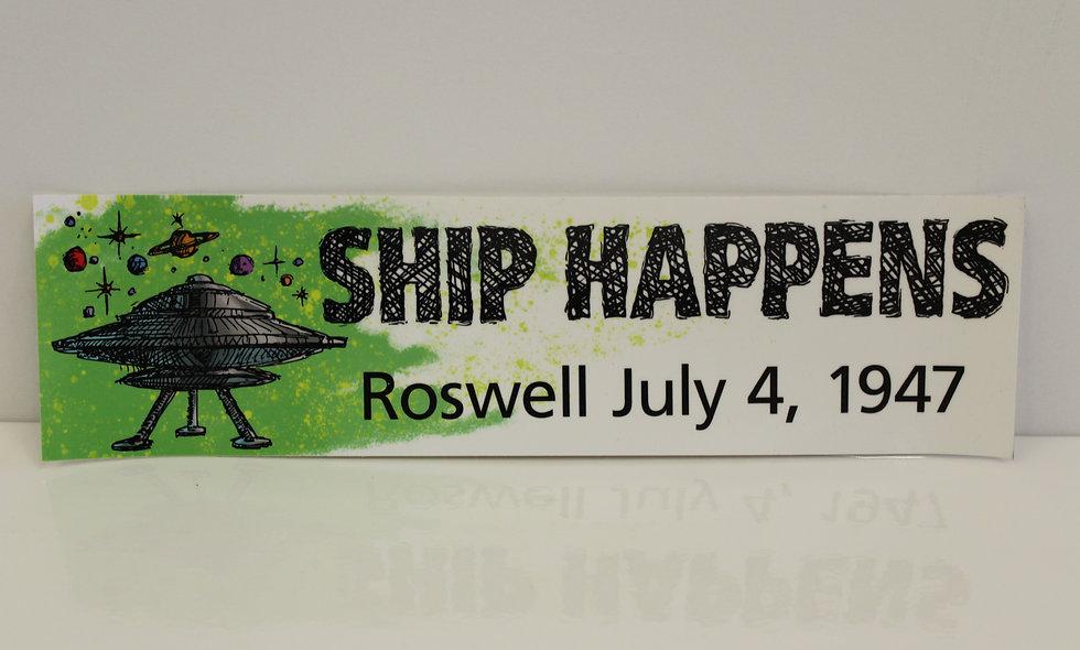Ship Happens Bumper Sticker
