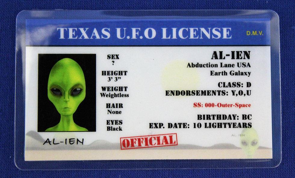 Texas U.F.O. License