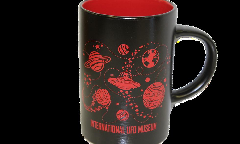Midnight Cafe Red Mug
