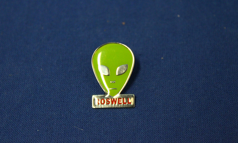 NM State with Alien Head or Roswell Alien Head Pin