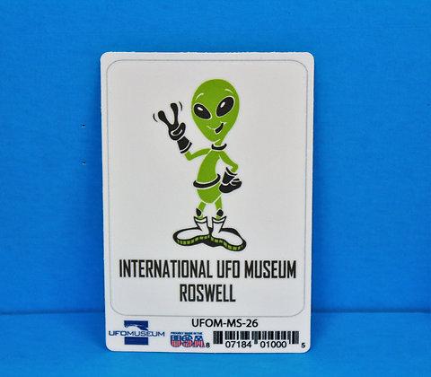 Peace Alien SMALL Sticker