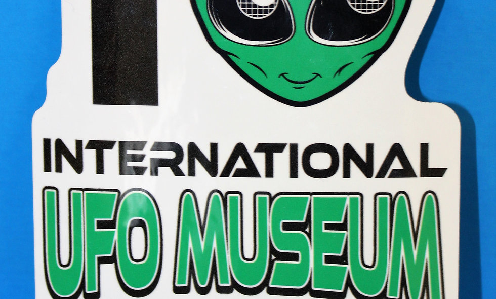I Heart UFO LARGE Sticker