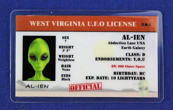 West Virginia U.F.O. License