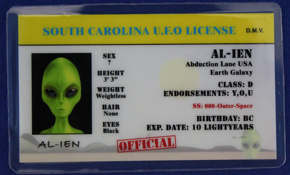 South Carolina U.F.O. License