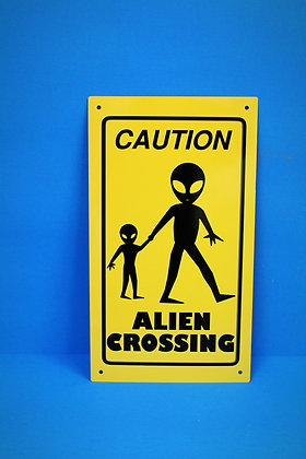 Amish Alien Xing Sign