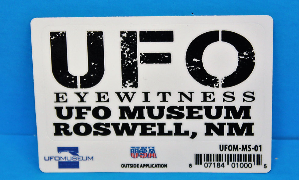 UFO Eye Witness SMALL Sticker