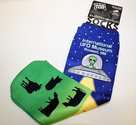 Alien Cow Socks