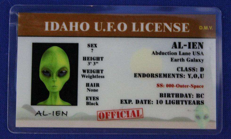 Idaho U.F.O. License