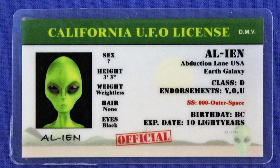 California U.F.O. License