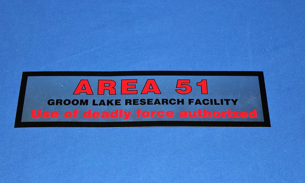 Area 51 Bumper Sticker