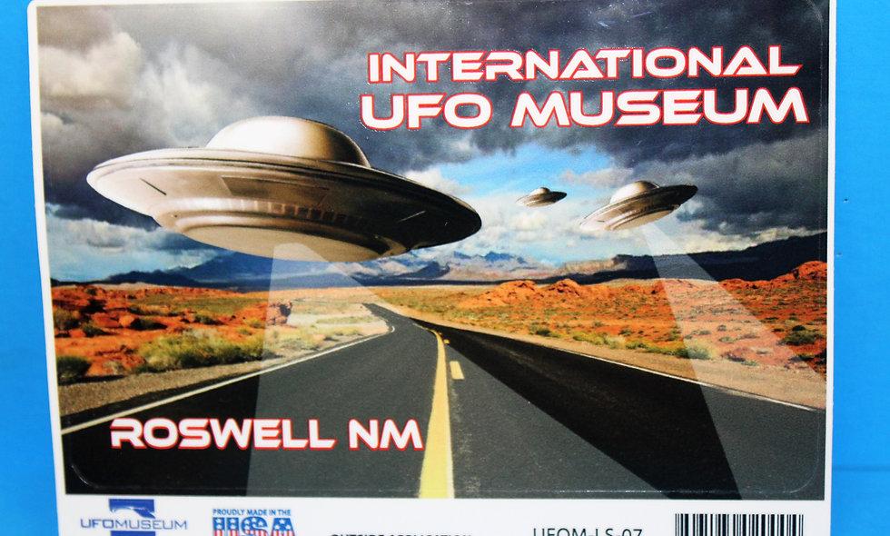 UFO Highway LARGE Sticker