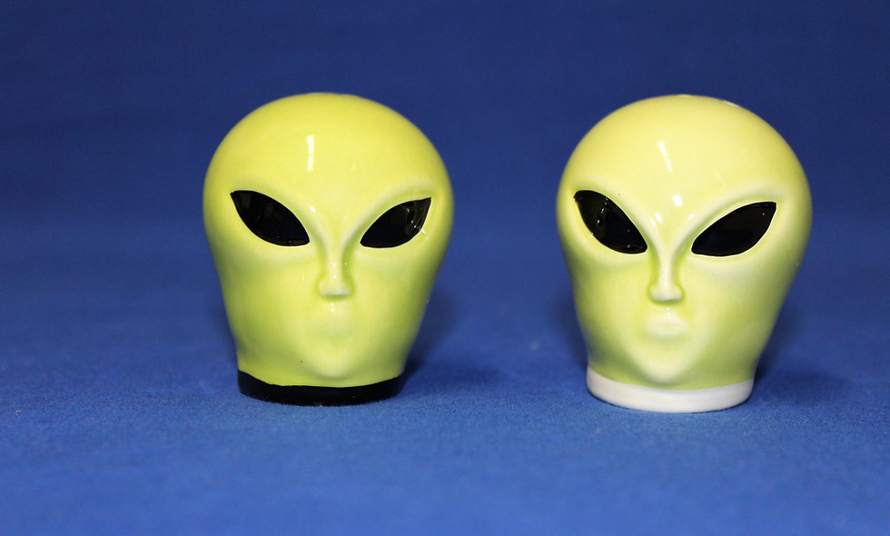 Alien Head Salt & Pepper Shakers