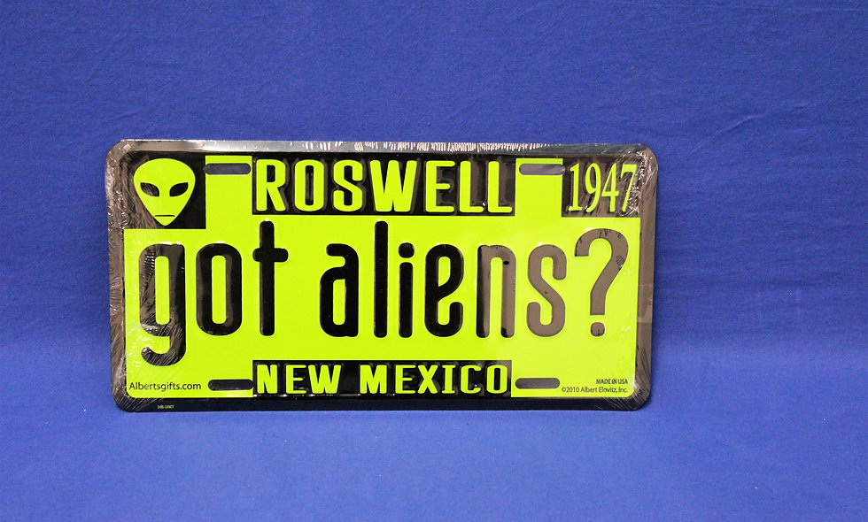 Got Aliens? License Plate