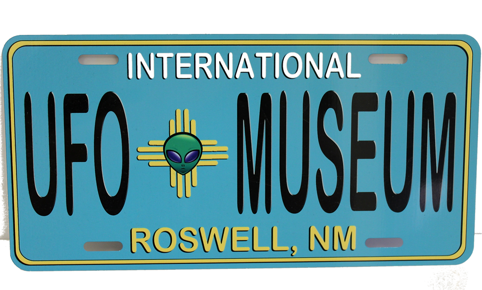 IUFOMRC Roswell NM License Plate