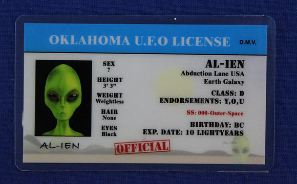 Oklahoma U.F.O. License
