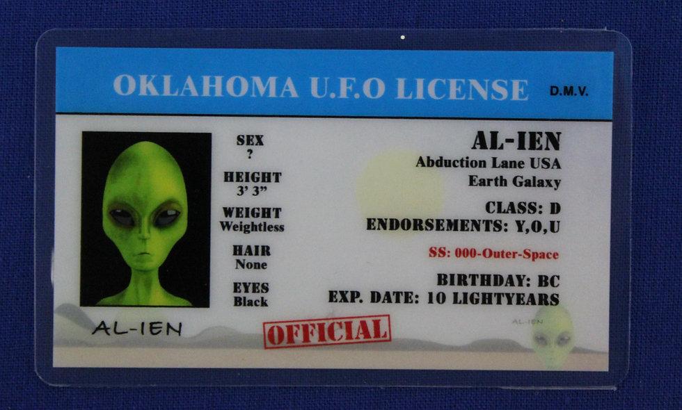 Oklahoma U.F.O. License