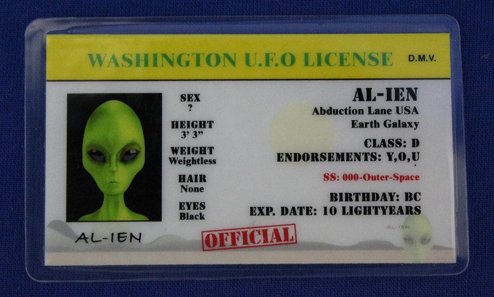 Washington U.F.O. License