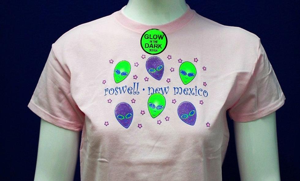 Alien Glitter T-shirt Pink - Kids