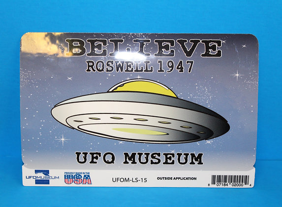 Believe Roswell 1947 LARGE Sticker