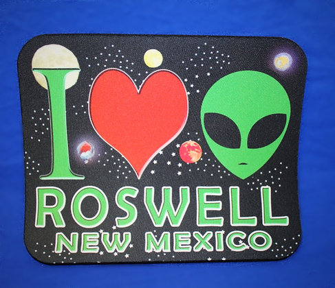 I Love Aliens Mouse Pad