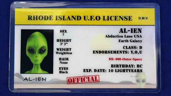 Rhode Island U.F.O. License
