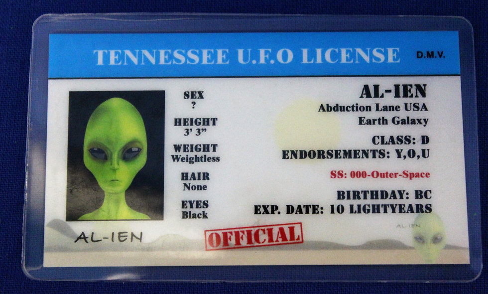 Tennessee U.F.O. License