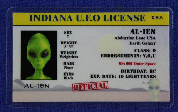 Indiana U.F.O. License