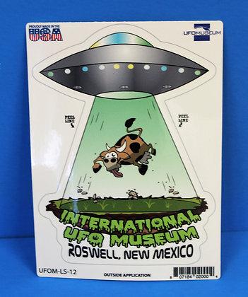 UFO & Cow LARGE Sticker