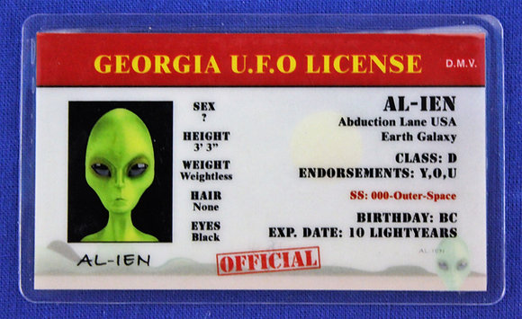 Georgia U.F.O. License