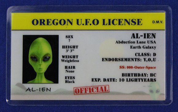 Oregon U.F.O. License