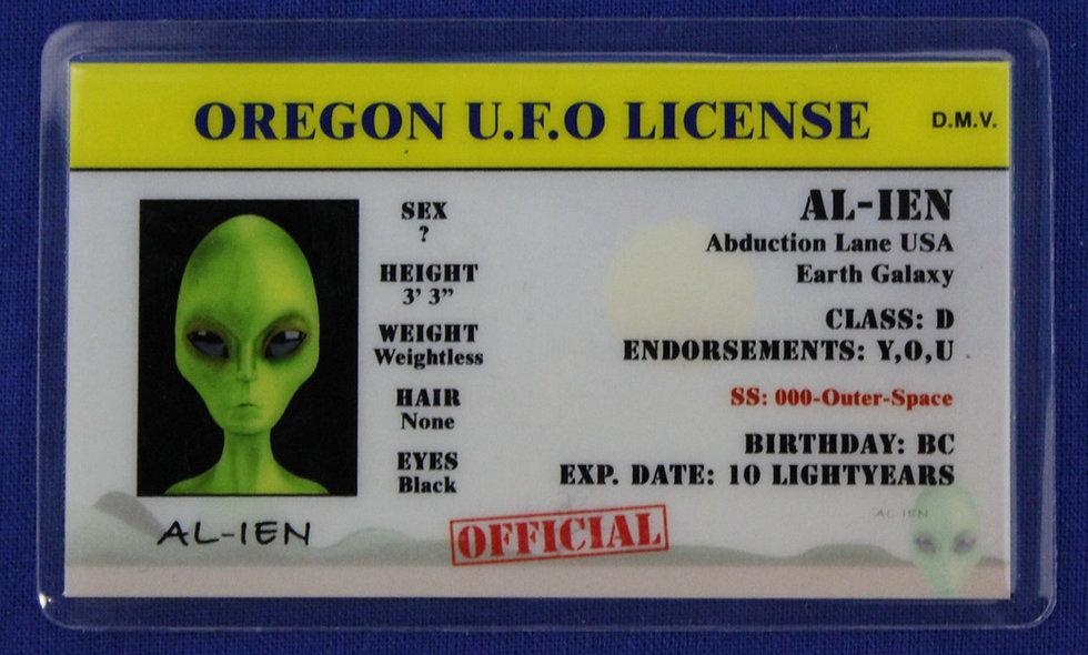 Oregon U.F.O. License