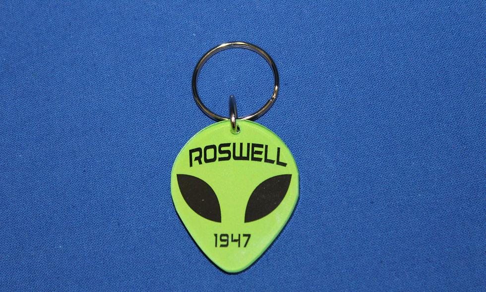 Acrylic Alien Keychain