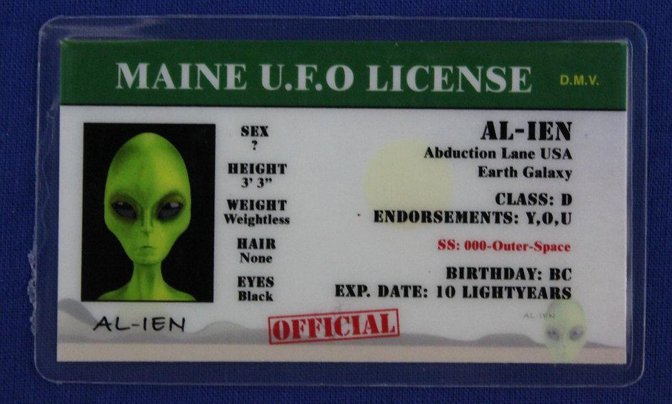 Maine U.F.O. License