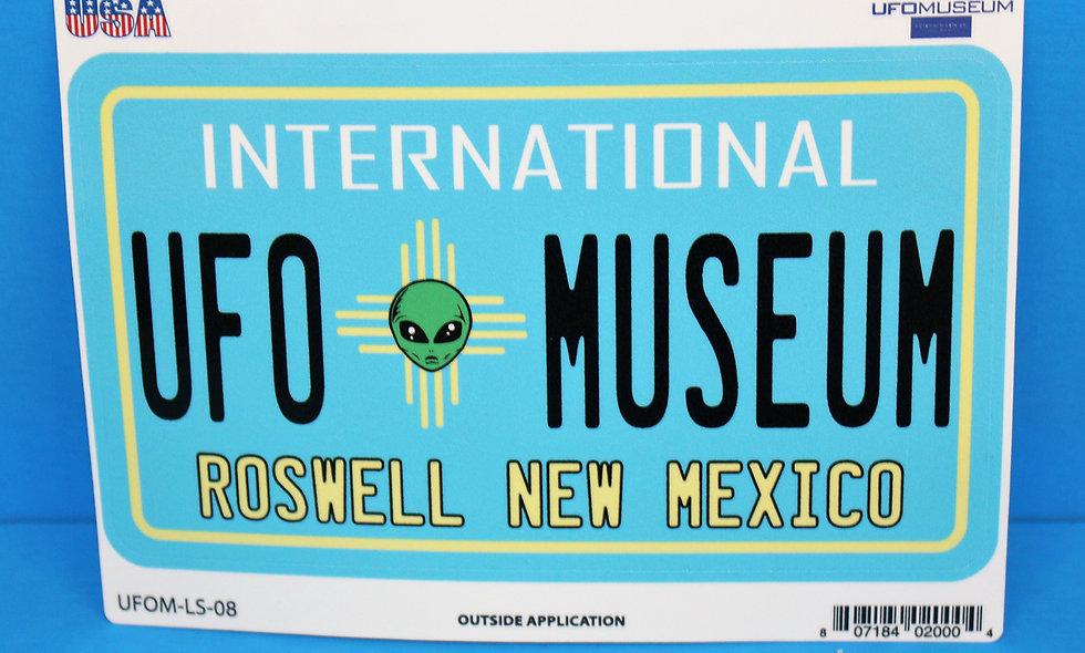 UFO Plate LARGE Sticker
