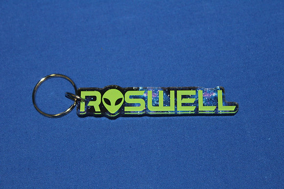 Acrylic Roswell Keychain