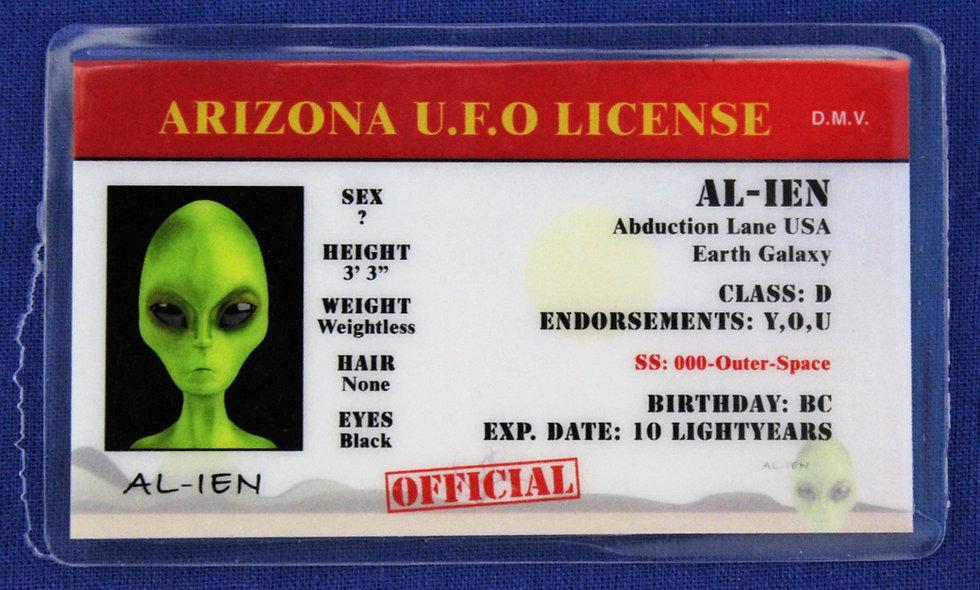 Arizona U.F.O. License