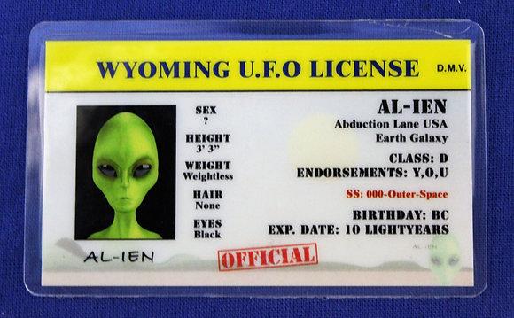 Wyoming U.F.O. License