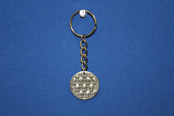 Pewter Multiple Faces Keychain