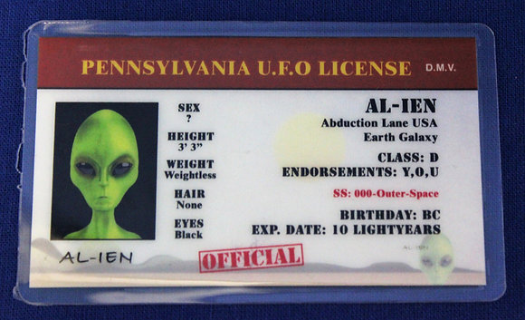 Pennsylvania U.F.O. License
