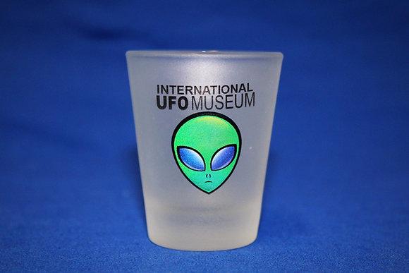 Green Alien Frosted Shot Glass