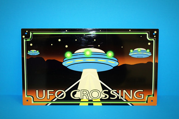 Amish UFO Crossing Sign