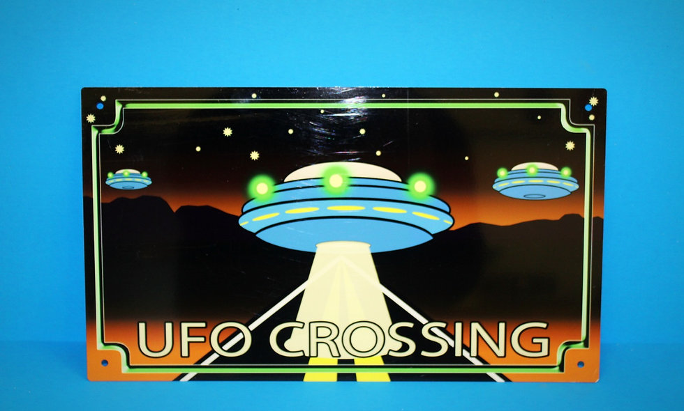 Amish UFO Crossing Sign