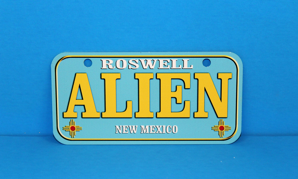NM State Alien Bike Plate